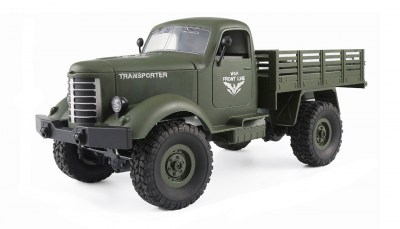 Amerikaanse Militaire leger truck 4WD 1:16 RTR groen