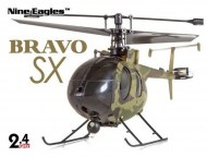 rc helicopter | Nine Eagles Bravo SX camo met koffer | bestuurbare helikopter